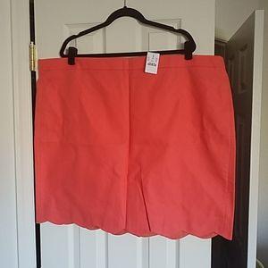 J. Crew Scalloped-cut Skirt
